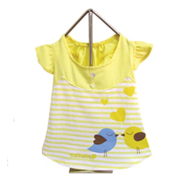 Miss Lovebird Dog Dress - Yellow