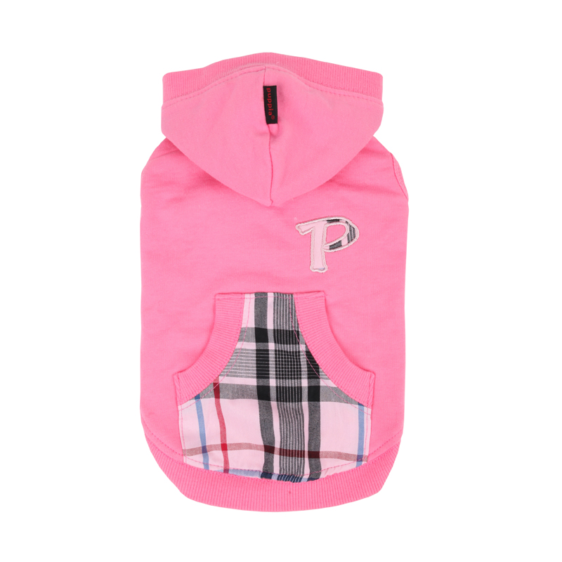 Modern Pup Hooded Dog Shirt by Puppia - Pink