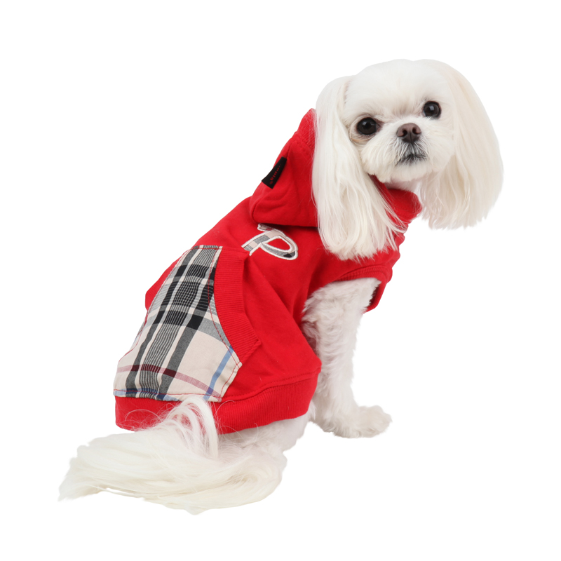 Modern Pup Hooded Dog Shirt by Puppia - Red