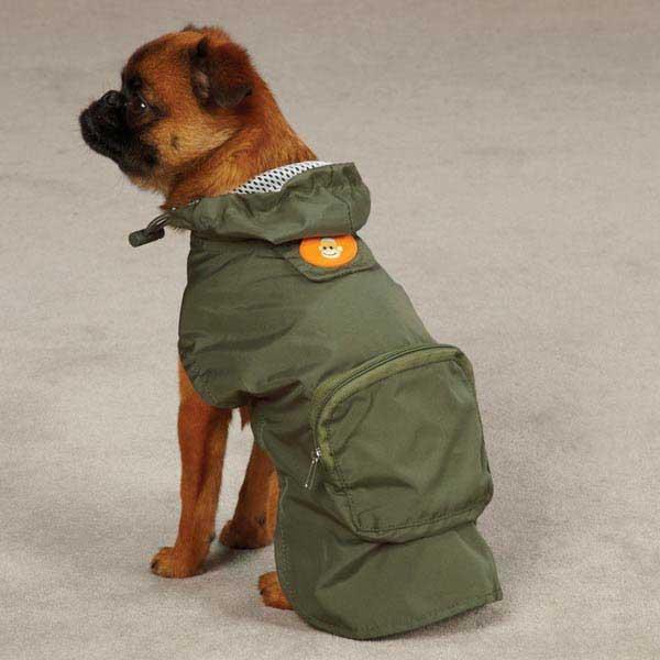 Monkey Business Stowaway Dog Rain Jacket - Ty