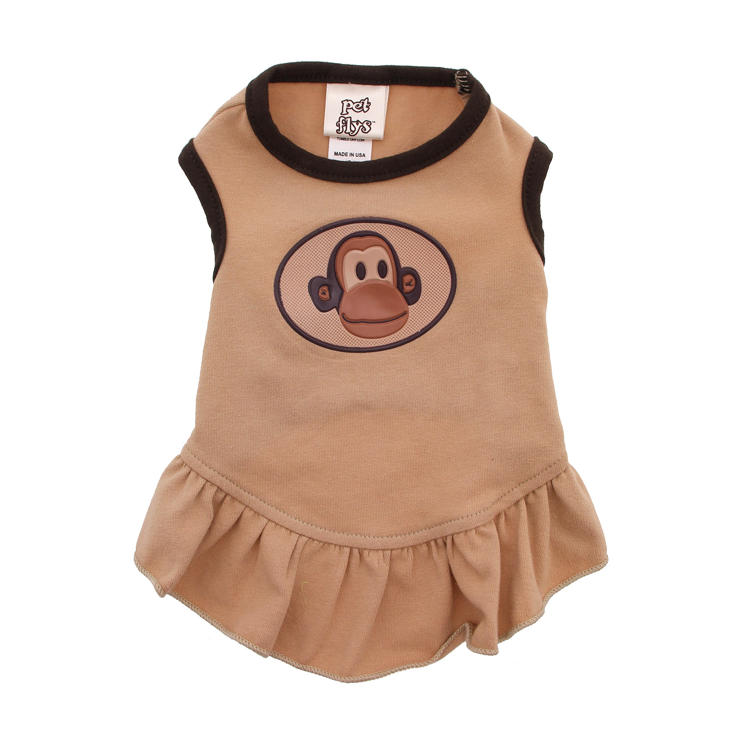 Monkey Dog Dress with Scented Patch