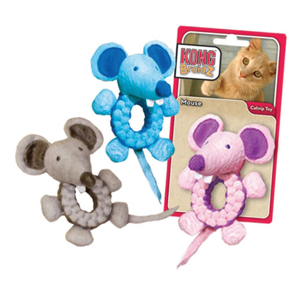 Kong BraidZ Cat Toy - Mouse