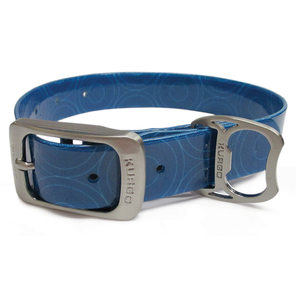 Muck Dog Collar by Kurgo - Crop Circles Coastal Blue