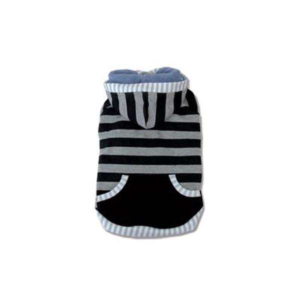 Multi Stripe Dog Hoodie by Dogo - Black