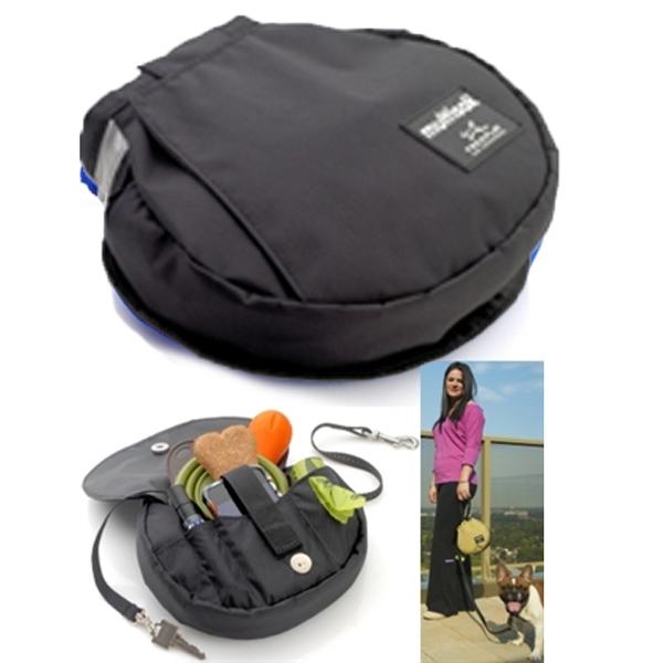 Multisak Dog Leash Accessory Bag - Black