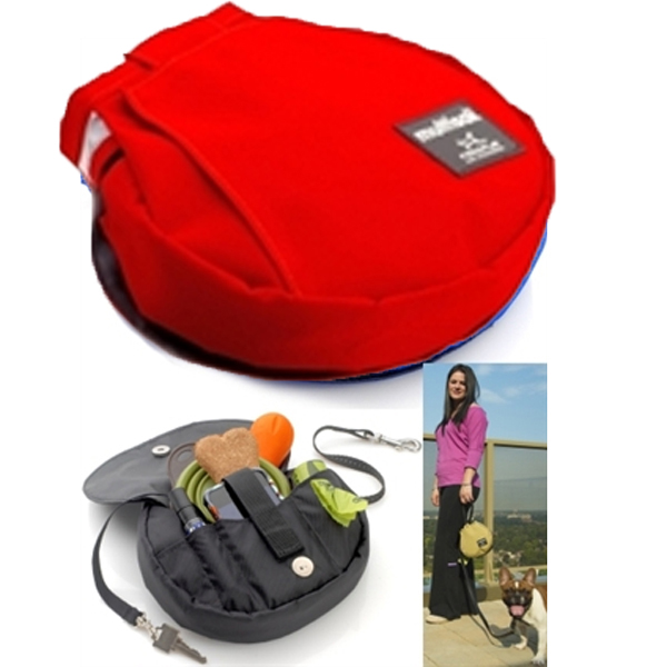 Multisak Dog Leash Accessory Bag - Red