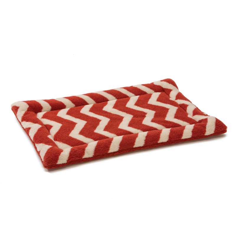Nature Nap Pet Bed -  Rust Chevron