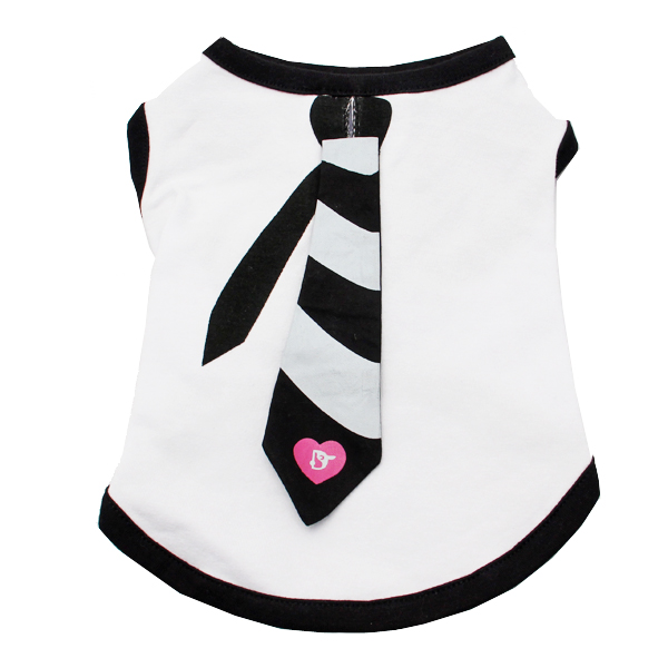 Necktie Dog Tank Top by Dogo - Black