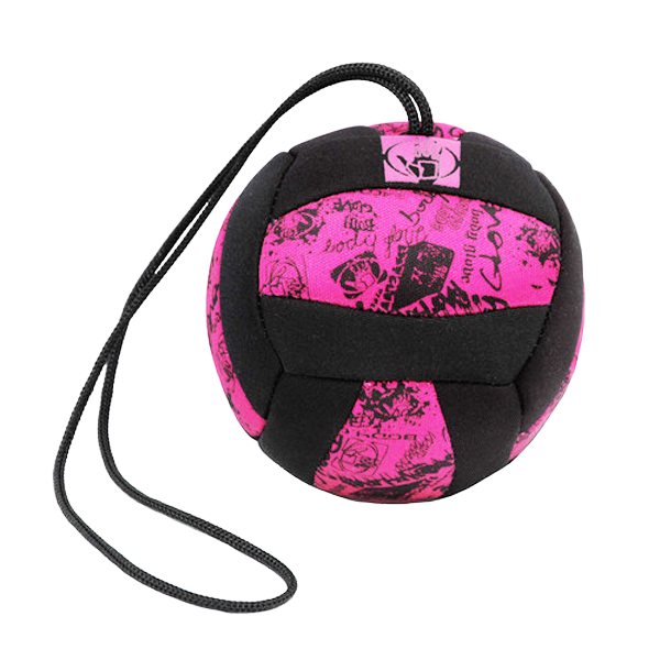 Neoprene Volleyball Dog Toy by Body Glove - Pink