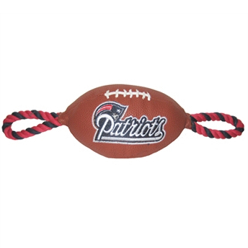New England Patriots Pebble Grain Football Dog Toy