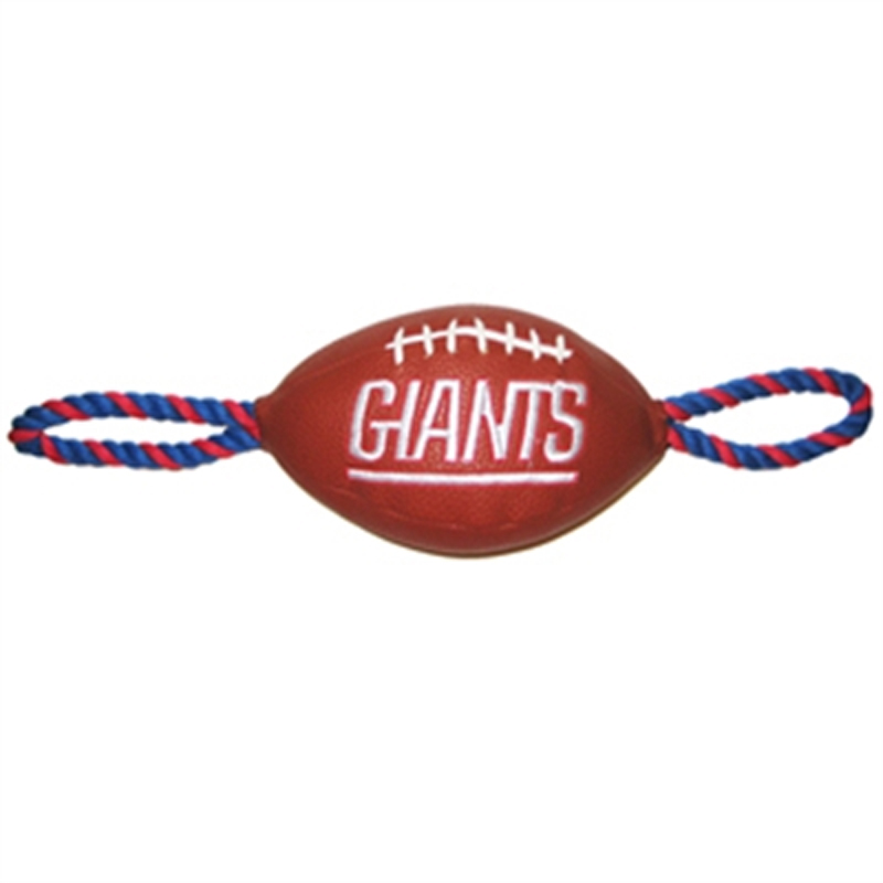 New York Giants Pebble Grain Football Dog Toy