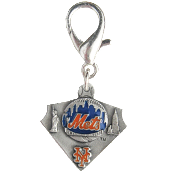 New York Mets Pennant Dog Collar Charm