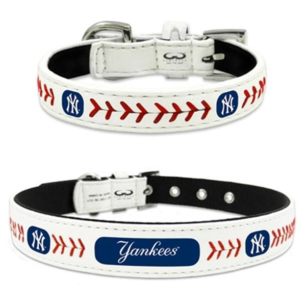 New York Yankees Leather Dog Collar