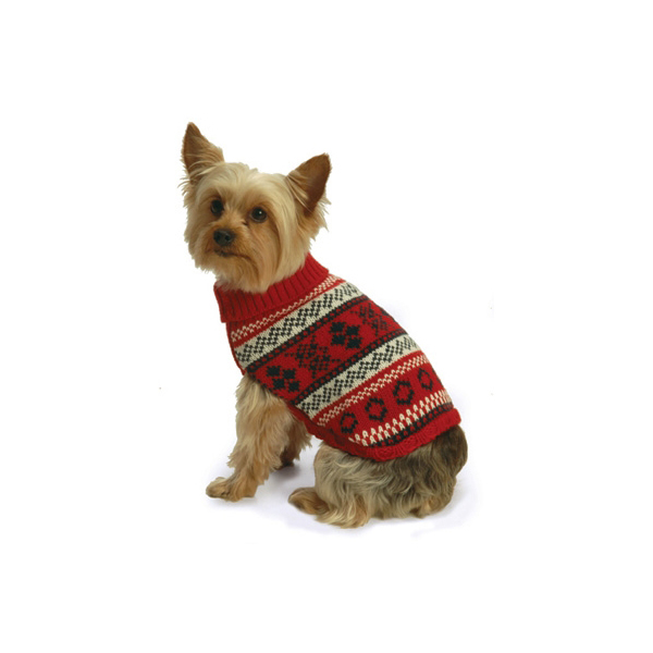 Nordic Fair Isle Knit Sweater by NY Dog - Red