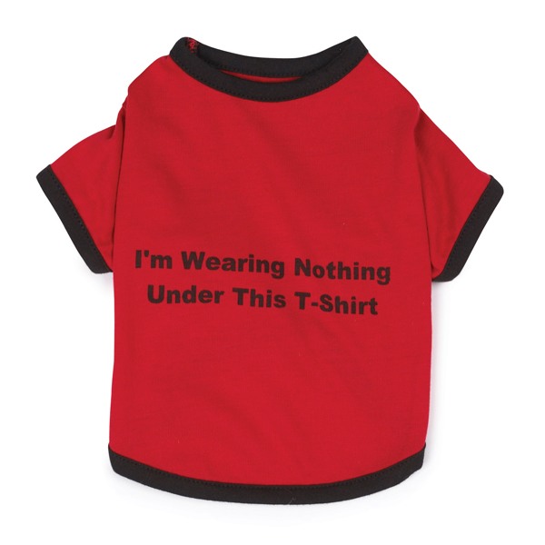 Nothing Under This Dog T-Shirt - Red