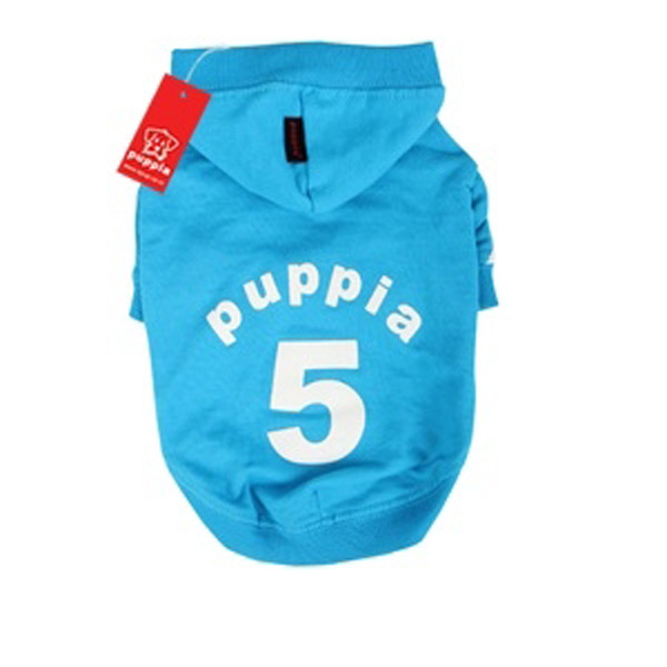 Number 5 Dog Hoodie by Puppia - Sky Blue