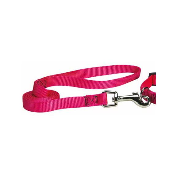 Nylon Brites Dog Leash by Guardian Gear - Flamingo Pink