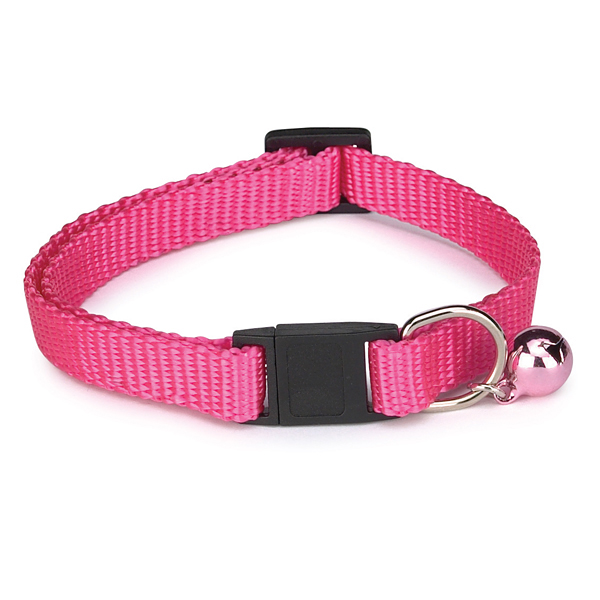 Nylon Cat Collar - Flamingo Pink