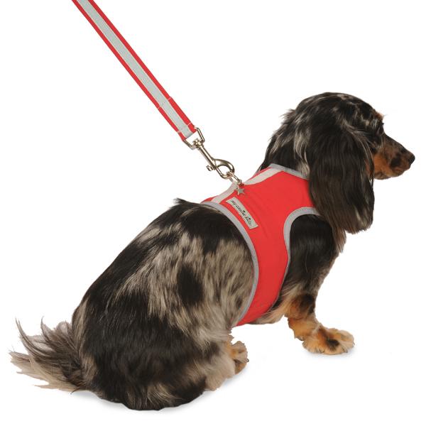 Nylon-Fleece Dog Vest Harness - Red