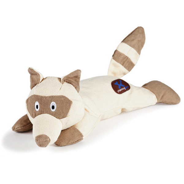 Oh Naturelle Raccoon Plush Dog Toy