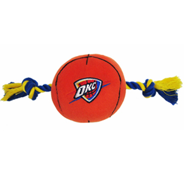 Oklahoma City Thunder Basketball Dog Toy