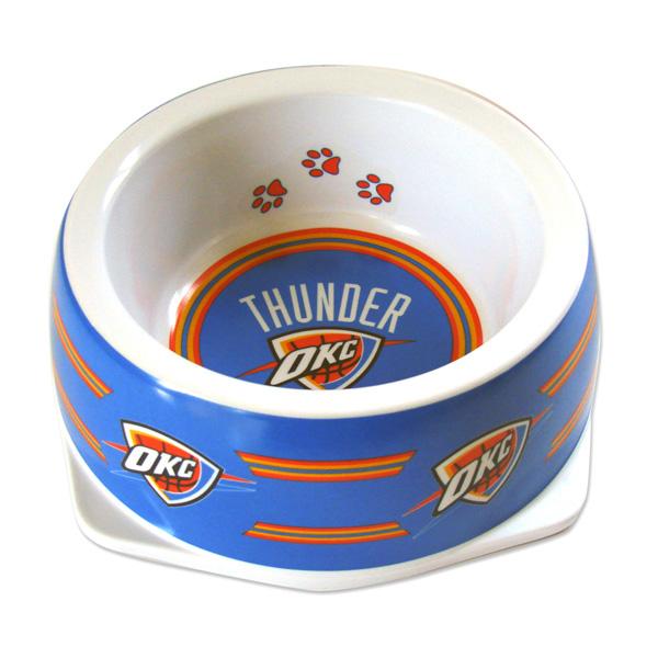 Oklahoma City Thunder Plastic Dog Bowl