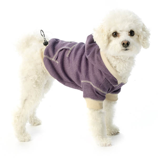 On-the-Go Heathered Dog Hoodie - Dusty Grape