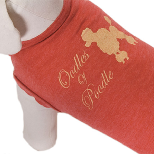 Oodles of Poodle Dog Shirt - Red