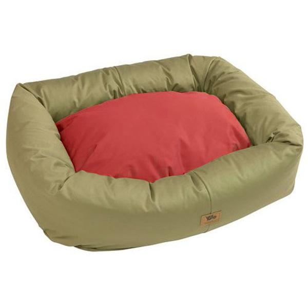 Organic Bumper Dog Bed - Basil/Ember