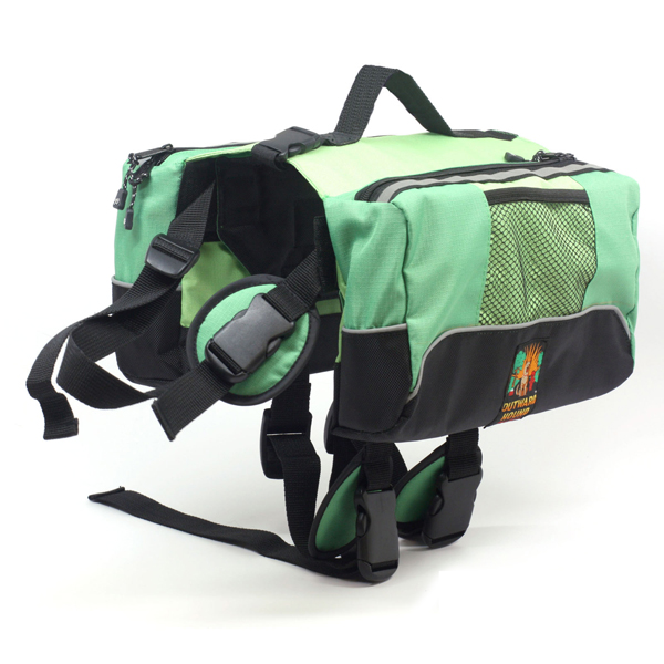 Outward Hound Quick Release Dog Backpack - Green