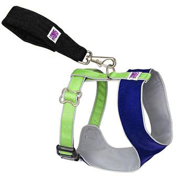 Over the Head Comfort Harness - Blue / Green