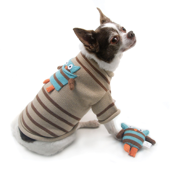 Owl Love You Forever Dog Sweater and Toy Set by Oscar Newman