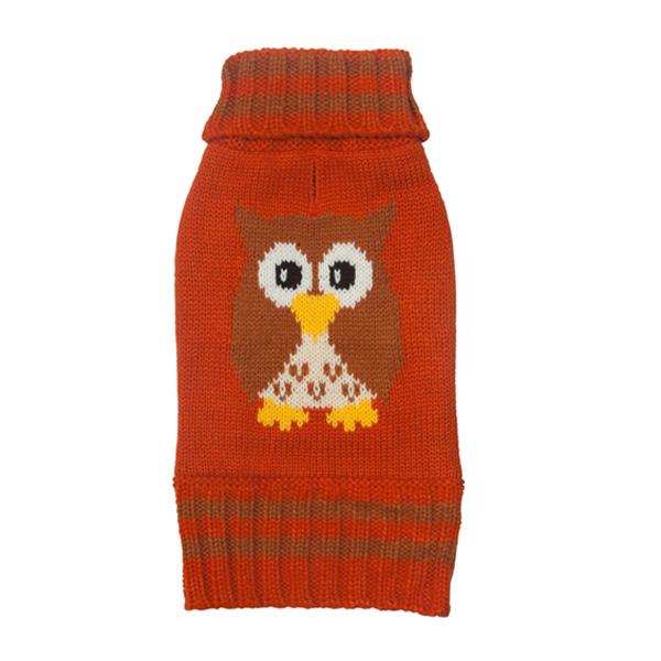 Owl Turtleneck Dog Sweater