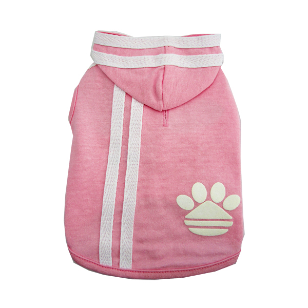 Pawdidas Dog Hoodie - Pink