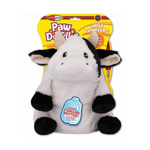 Pawdoodles Mega Krinklers Dog Toy - Cow