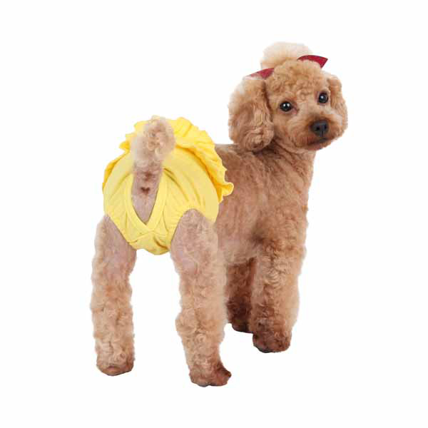 Peeps Dog Sanitary Panty by Pinkaholic - Yellow