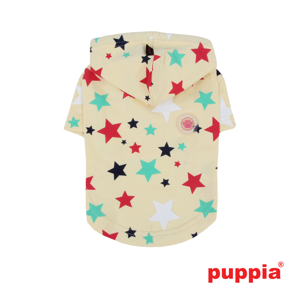 Perseus Hooded Dog T-Shirt by Puppia - Yellow