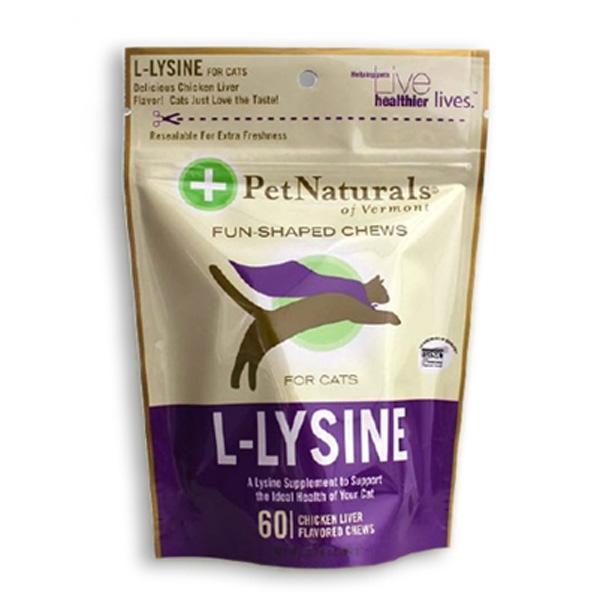 Pet Naturals L-Lysine Cat Chew Supplements