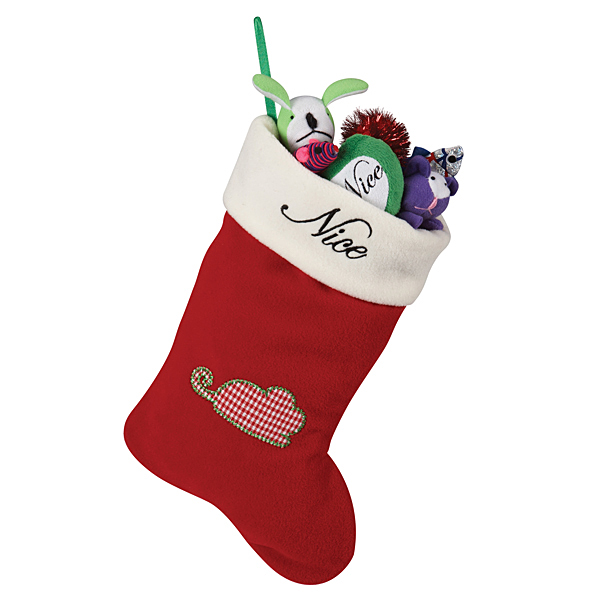 Pet Studio Naughty / Nice Pet Christmas Stocking - Mouse