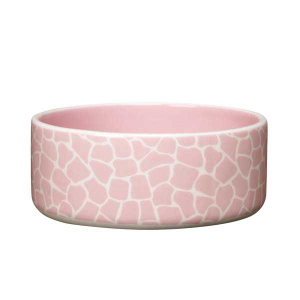 Pet Studio Sweet Safari Dog Dish - Petal Pink