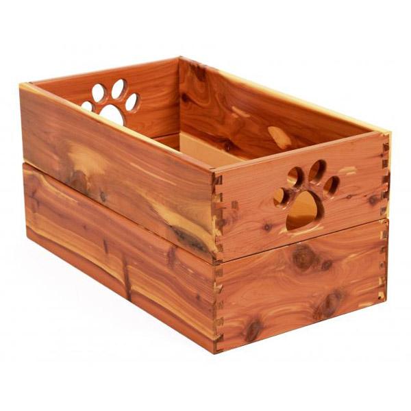 Pet Toy Box - Cedar