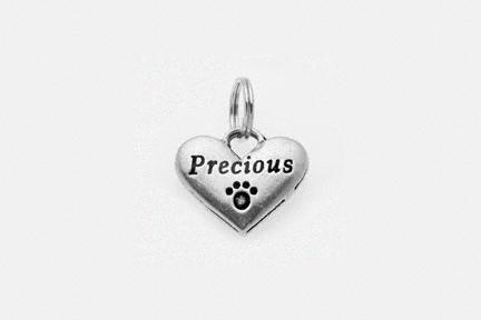 Pewter Dog Collar Charm or Cat Collar Charm: Precious