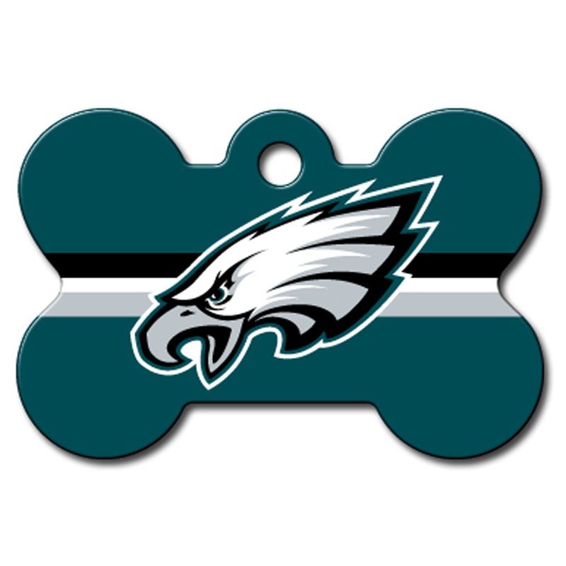Philadelphia Eagles Engravable Pet I.D. Tag - Bone