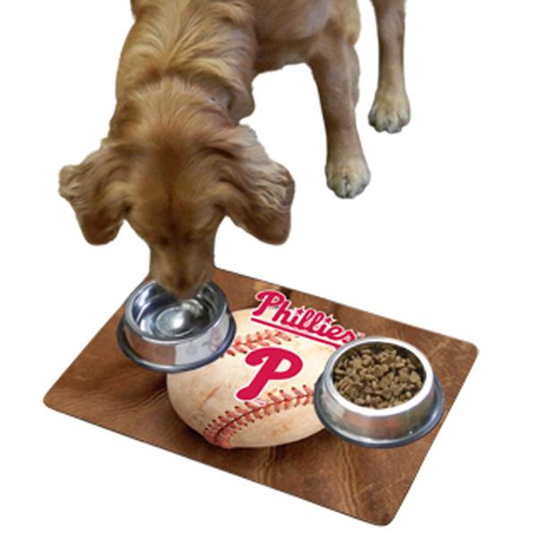 Philadelphia Phillies Pet Bowl Mat