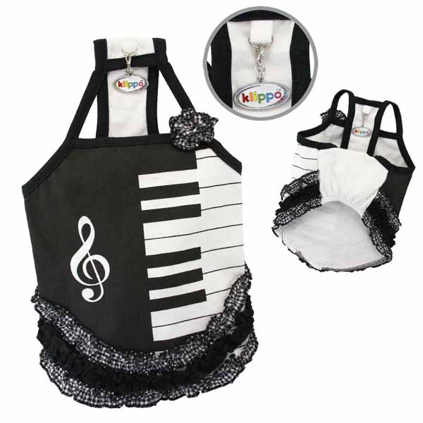 Piano Dress with Ruffles by Klippo