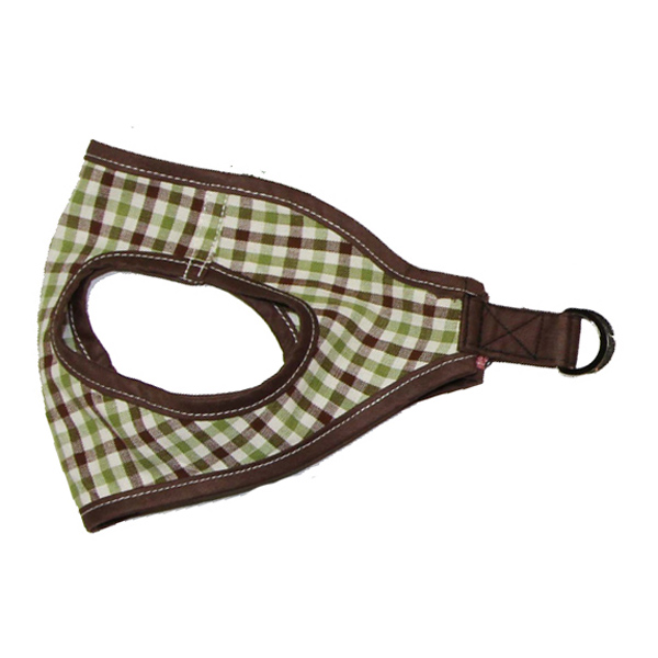 Picnic Dog Harness by Gooby - Brown Checkered
