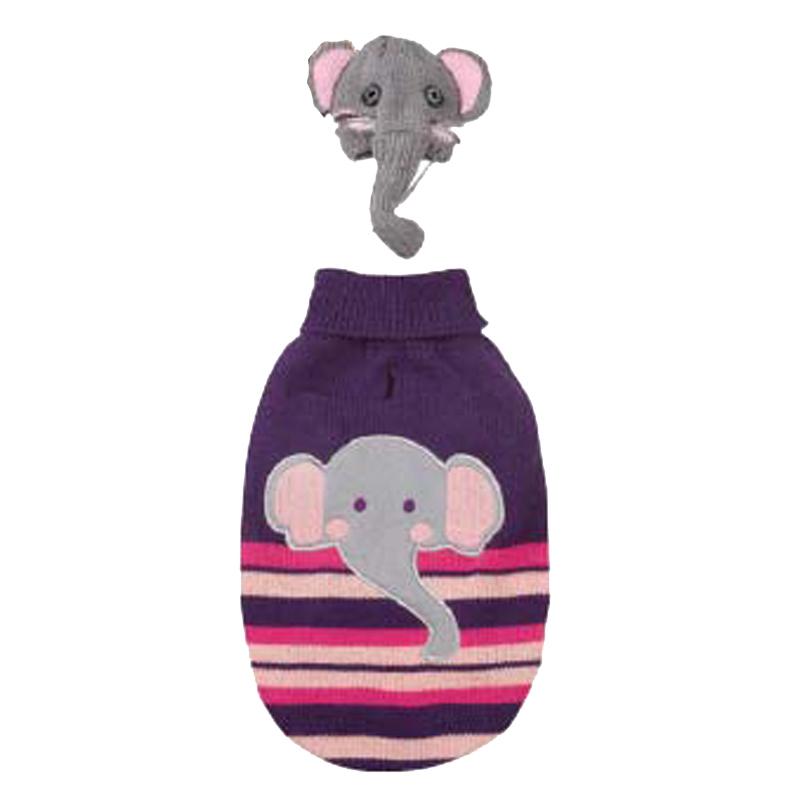 Piggyback Pals Dog Sweater Set - Elephant