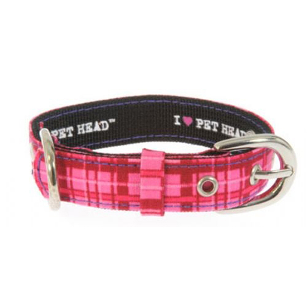 Pink Plaid & Rhinestone Collar by Pet Head