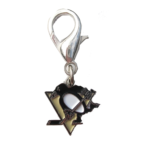 Pittsburgh Penguins Logo Dog Collar Charm