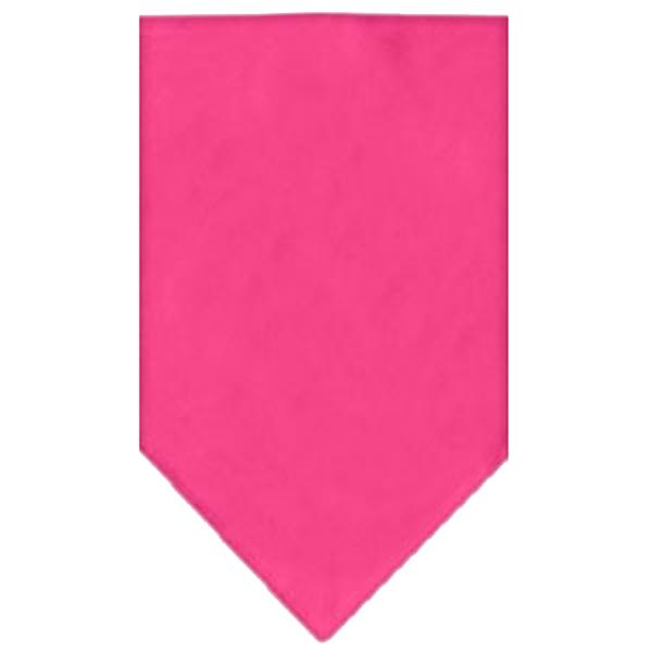 Plain Dog Bandana - Bright Pink